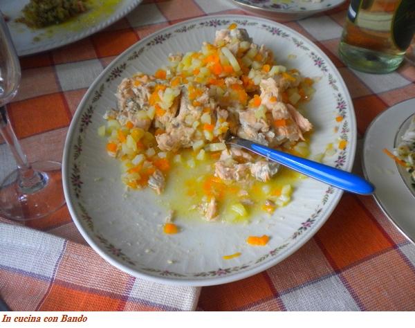 salmone con verdurine