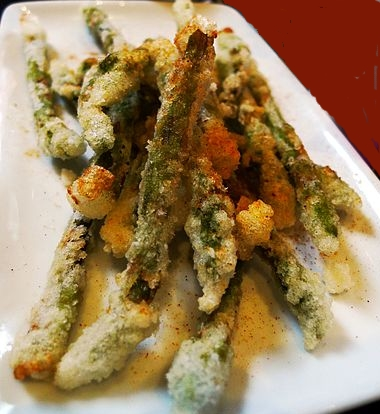 asparagi in tempura
