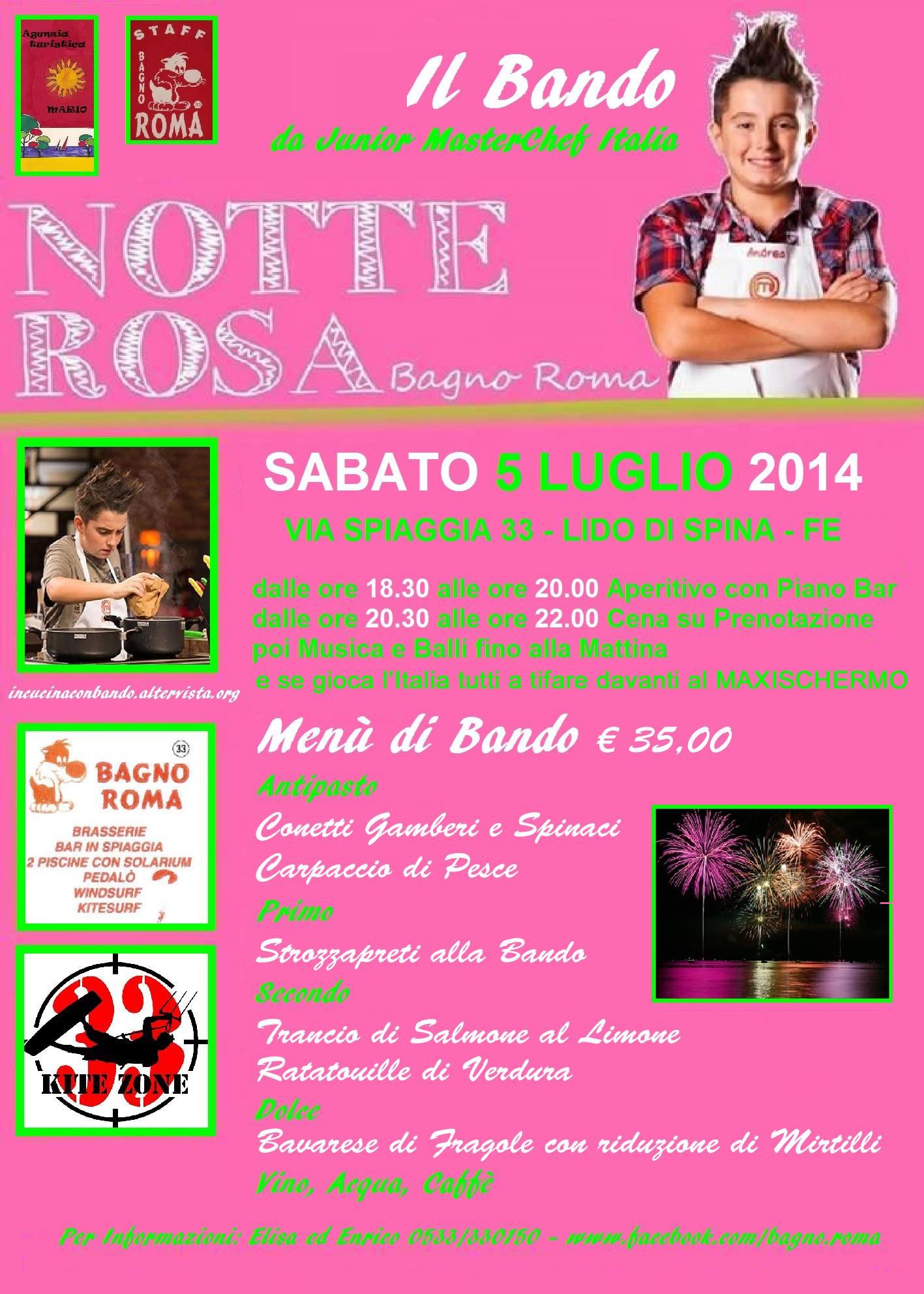 Notte rosa con Andrea Bando