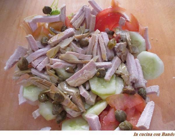 insalata con lonza di maiale