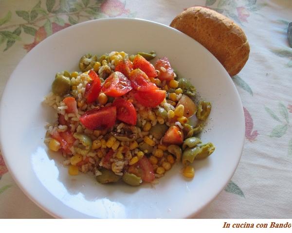 insalata con riso integrale