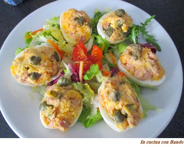Uova farcite al sapore di mare
