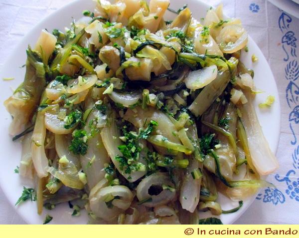 puntarelle con aglio e prezzemolo