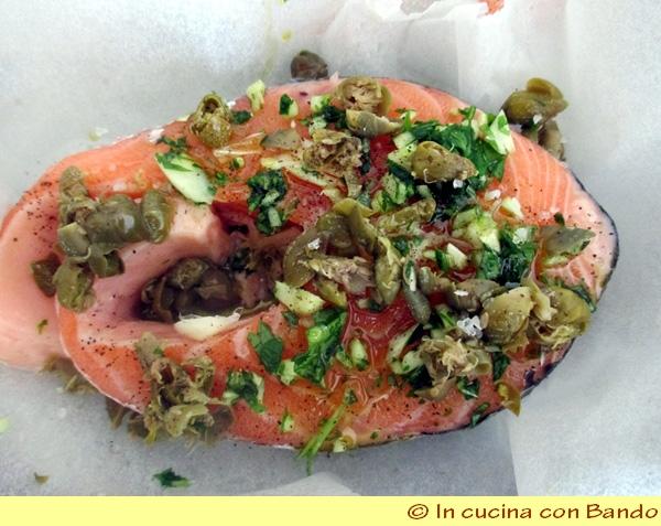 trancio di salmone al cartoccio