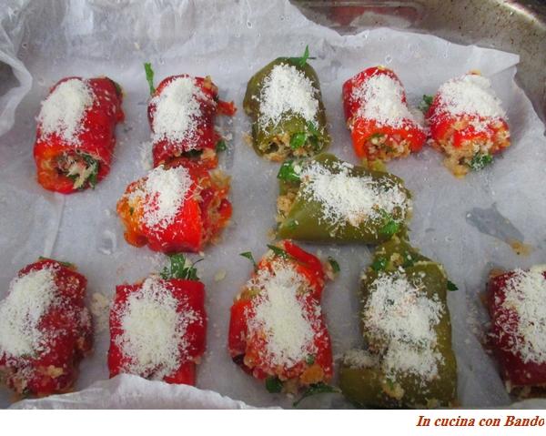 falde di peperone con pane profumato