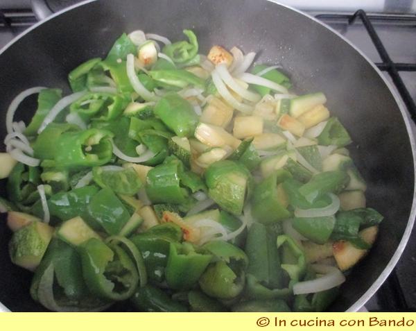 zucchine e peperoni.